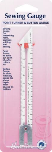 Hemline H258Sewing Gauge Sewing ToolIncludes Button Gauge /& Point Turner