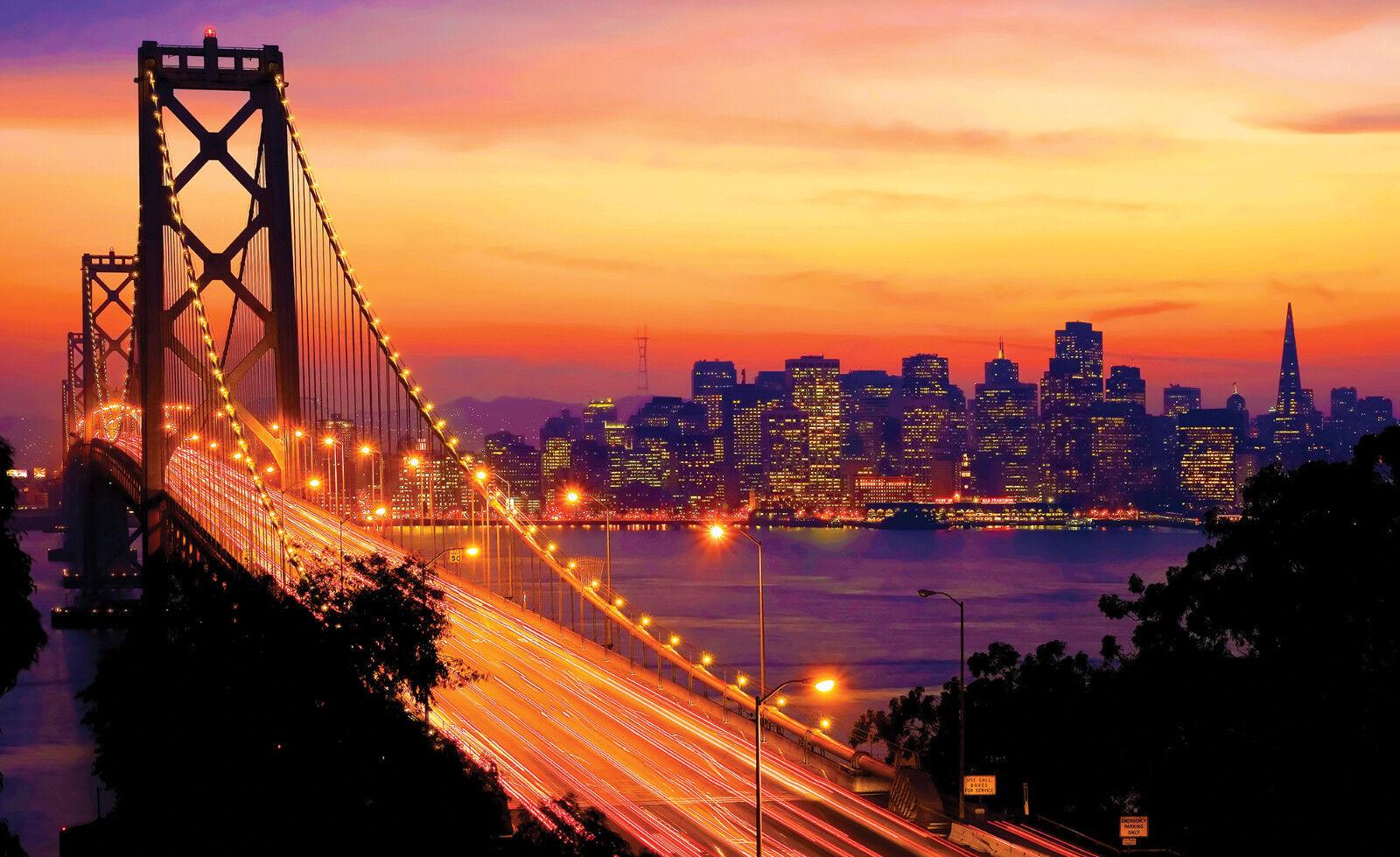 VLIES Fototapete-BAY BRIDGE-(418)-San Franciso Stadt Kalifornien Pazifik Golden