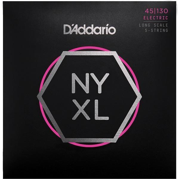 D'Addario NYXL 5-String Bass Guitar Strings regular gauge 45-130 long scale