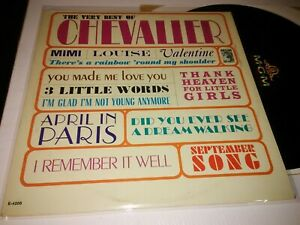 """[1964] Very Best of Maurice Chevalier [NM+ 12"""" LP vinyl record] MGM. Compilation"""