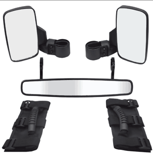 For Can-Am Maverick X3 800R 1000R Commander Roll Bar Rear Wide View Mirror Kit