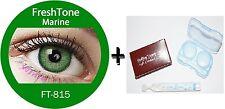 Contact Lenses Colored  FRESHTONE® Marine Green + Case + AVIZOR solution 10 ML