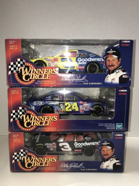3 Nib Diecast 1  24 Scale Collectible Cars Dale Earnhardt