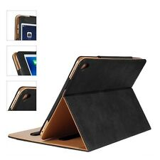 Portafoglio in Vera Pelle Magnetica Smart Cover Custodia Flip per Apple iPad Air 2 & 5 6