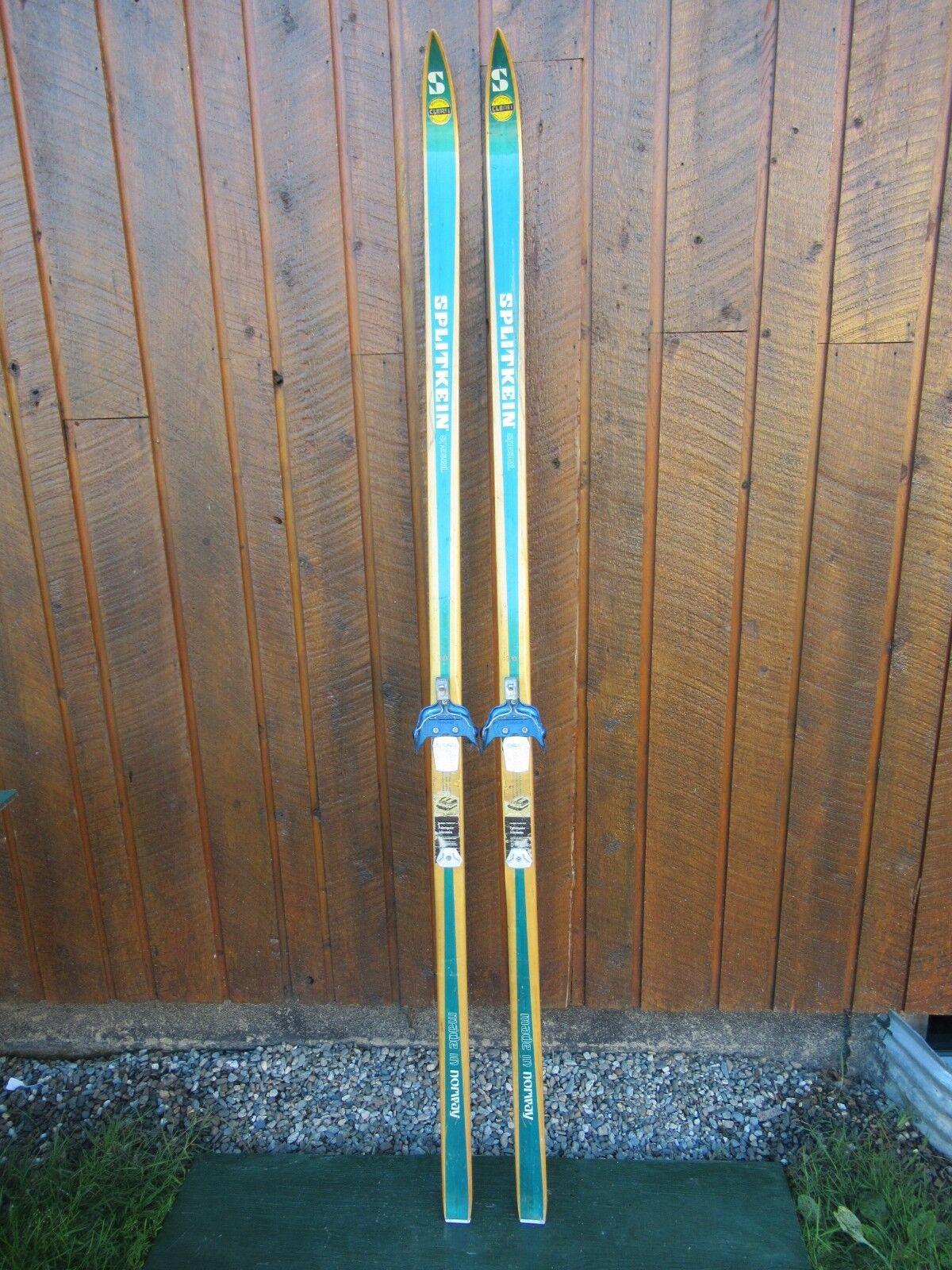 Vintage Wooden Skis 77
