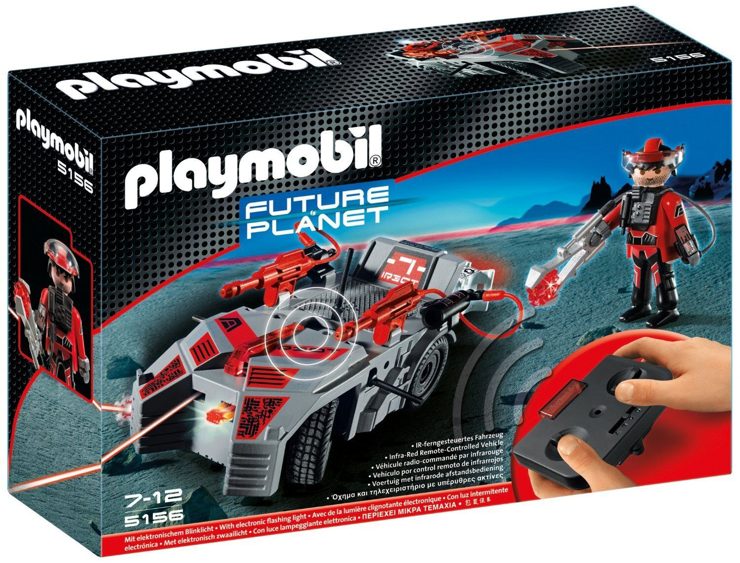 Playmobil 5156 Darksters Explorer with Flash Cannon and Infra-Red Remote Control