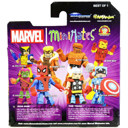 MiniMates Marvel Best of Series 1 IRON MAN and THE THING Figure 2 Pack