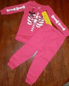 fc0282d8677c Pink Skeleton Halloween Pajama Set Gymboree Girl size 18-24 month ...