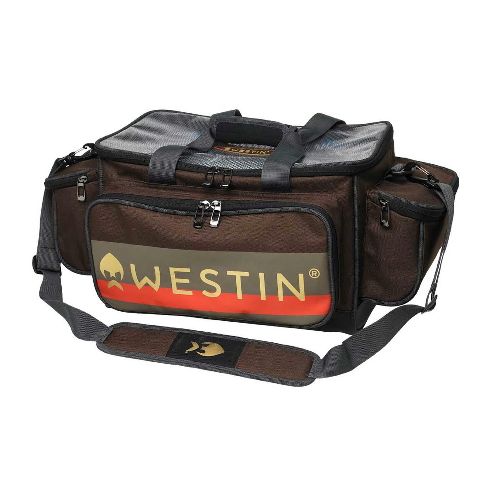 Westin Bolso Bolsa de Pesca Grande - W3 Atraer Loader con 4 Cajas 55 x 31 X 25CM