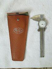 Vintage Helios Engineering Tool Dial Caliper With Depth Gauge Orig Case Germany