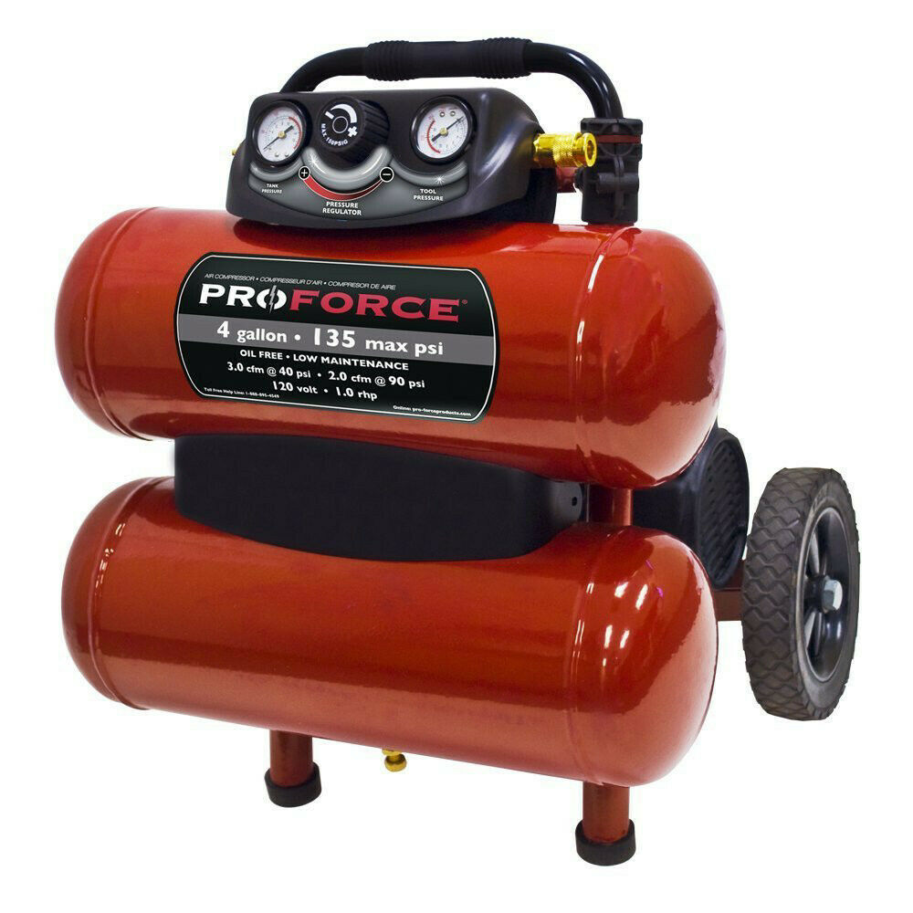 ProForce 4 Gal. Dolly Air Comp. w  Accessory Kit VKF1080418 New