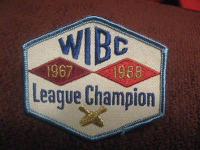 WIBC Womens International Bowling Congress 1967 Embroiderd Bowler Jacket Patch