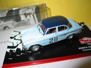 COCHE RALLYE MONTE CARLO 1959 ESCALA 1//43 SIMCA ARONDE
