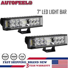 2x 7inch 900w Led Work Light Bar Spot Offroad Atv Fog Truck Lamp 4wd 12v 6