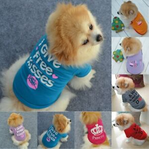 Small-Dog-Cat-Pet-Puppy-Vest-Clothes-Spring-Autumn-T-shirt-Apparel-Clothing-XS-L
