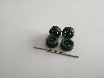 Roues+Véritables Pneus Dunlop Pour customiser restaurer Véhicules 1//64 3inchs