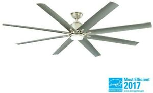 Image Is Loading 6 Ft Indoor Outdoor Ceiling Fan Large Brushed
