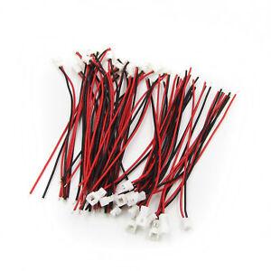 20-COPPIA-Micro-JST-PH-1-25mm-2-pin-maschio-Connettore-A-Spina-Donna-CAVI-FILI