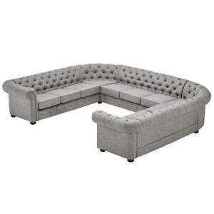 chesterfield big sofa xxl couch wohnlandschaft leder polster eck garnitur 201822 ebay. Black Bedroom Furniture Sets. Home Design Ideas