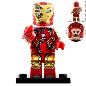 Tony-Stark-Ironman-Lego-End-Game-Moc-Minifigure-Includes-Gauntlet