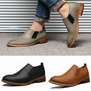 Fashion-Men-Oxfords-Leather-Shoes-Point-Toe-Wedding-Formal-Office-Business-Shoes