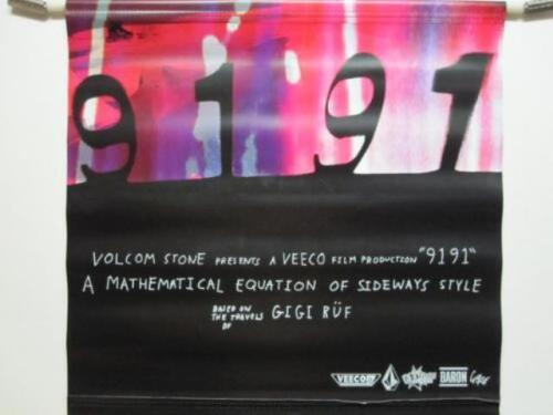 VOLCOM skateboard snowboard surf GIGI RUF 9191 banner 2 sided BIG New Old Stock