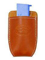 Barsony Tan Leather Magazine Pouch For Cobra, Bryco Mini/pocket 22 25 380