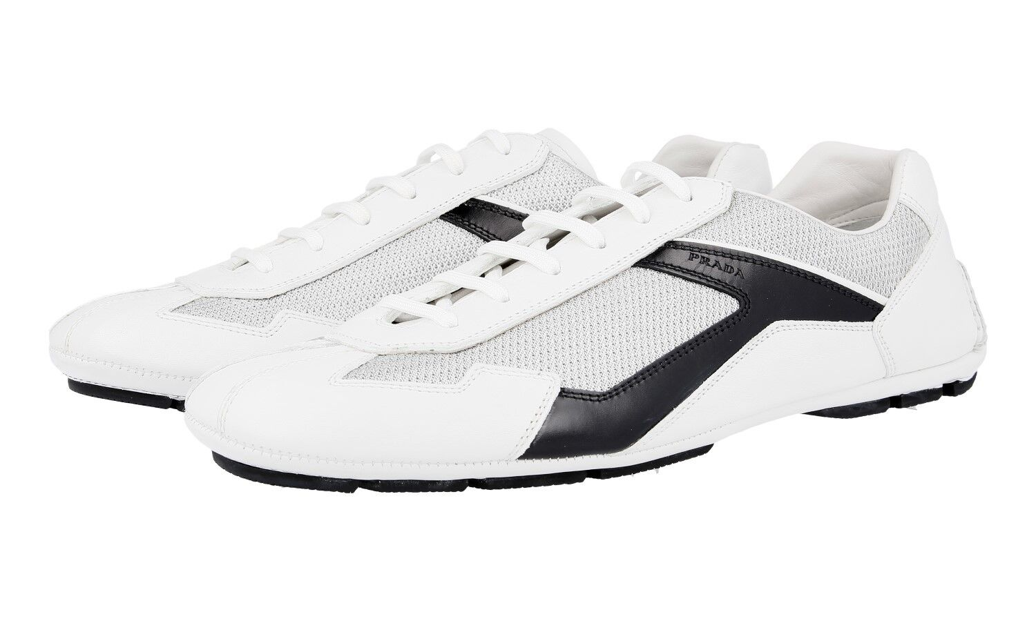 AUTH PRADA MONTE CARLO SNEAKERS SHOES 4E2791 WHITE BLACK US 9.5