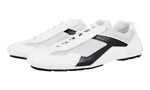 8 5 Nouveaux 43 5 Chaussures Luxueux Bianco Nero 42 Prada 4e2791 wz1OqYZ