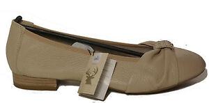 size 40 022eb 6ac8b Details zu CAPRICE Schuhe Pumps Ballerinas beige echt Hirsch Leder - laufen  auf Luft - NEU