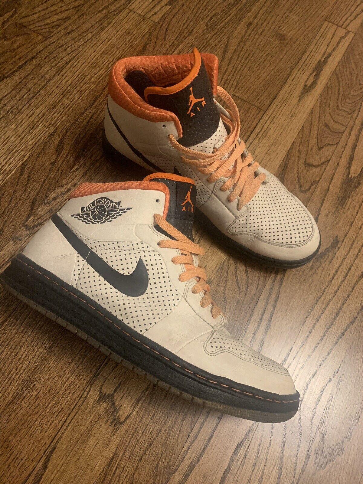 Mens Nike Air Jordan Alpha 1 Retro Birch off white orange black Size 11