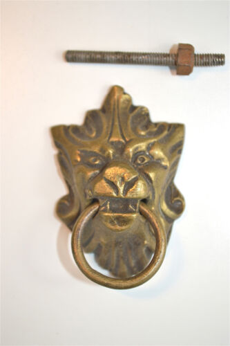 Original Victorian mythical beast brass furniture door or drawer pull handle RZ3