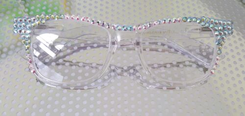 CRYSTAL READING GLASSES SPRING HINGE READERS MADE WITH SWAROVSKI CRYSTALS