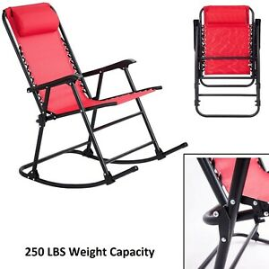 Awesome Details About Outdoor Rocking Chair Folding Patio Chairs Porch Armchair Deck Seat Garden Red Gmtry Best Dining Table And Chair Ideas Images Gmtryco