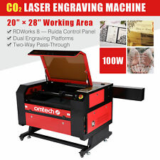 Omtech 28x20 100w Co2 Laser Engraving Cutting Carving Engraver Cutter Ruida