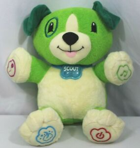 LeapFrog-My-Pal-Scout-Green-Talking-Musical-Dog-Plush-Interactive-Working