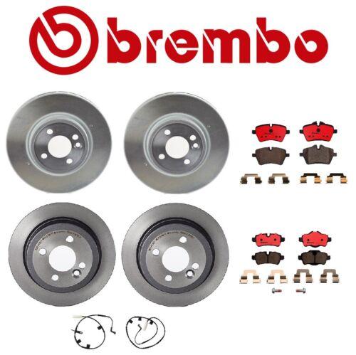 For Mini Cooper Brembo Brake Kit Front and Rear Disc Rotors Ceramic Pads Sensors