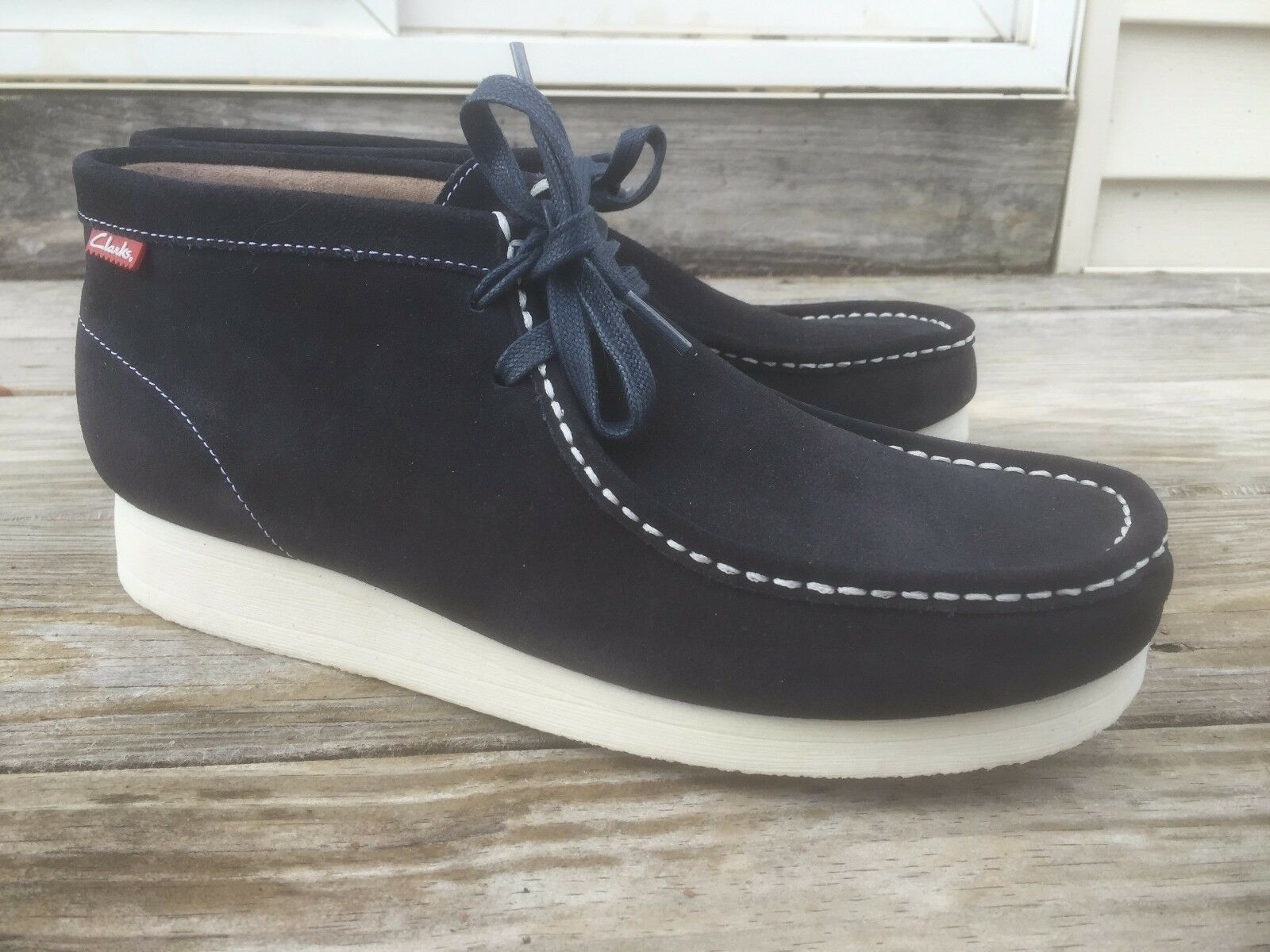 Brand New Clarks Originals Padmore II Stinson Navy shoes Boots Men 65921 SZ 10.5M