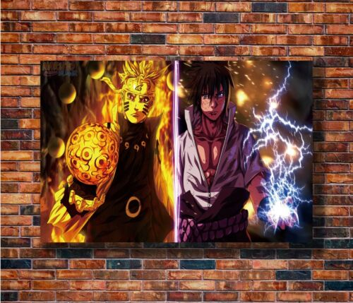 Hot Gift C2569 Art Shippuuden Naruto And Sasuke Japanese Classic Anime Poster