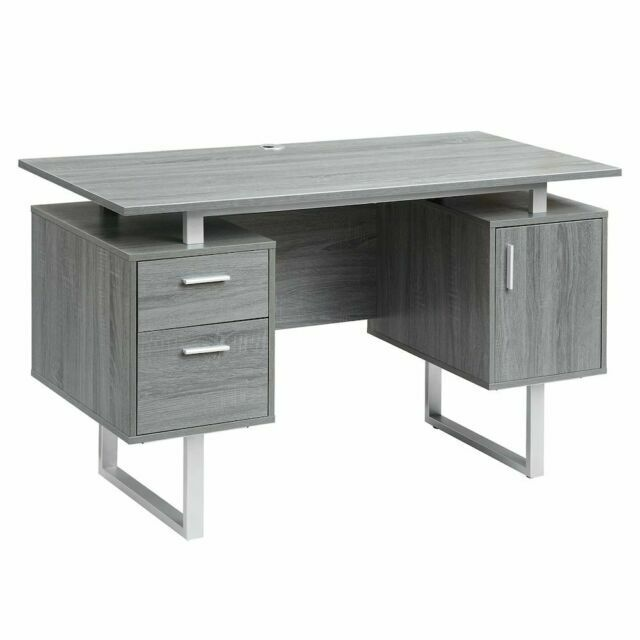 Techni Mobili Modern Office Desk With Storage Grey For Sale Online Ebay