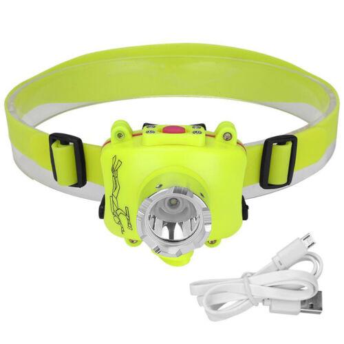 Headlamp Headtorch Diving Lamp Waterproof LED Flashlight Work Lights Camping SOS