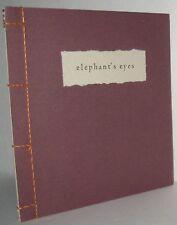 Elephant's Eyes by Yuki Inoue 1991 VERY RARE Limited to 20 book, Handmade