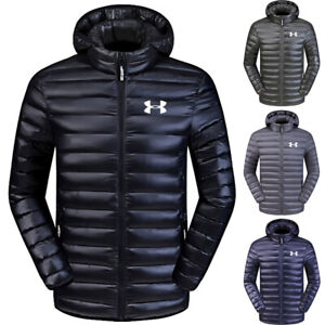 Men-039-s-Under-Armour-Down-Jacket-Winter-Thick-Coat-Hooded-Warm-Puffer-Overcoat