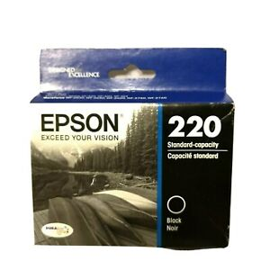 Genuine-Epson-220-standard-capacity-black-printer-ink-NIB