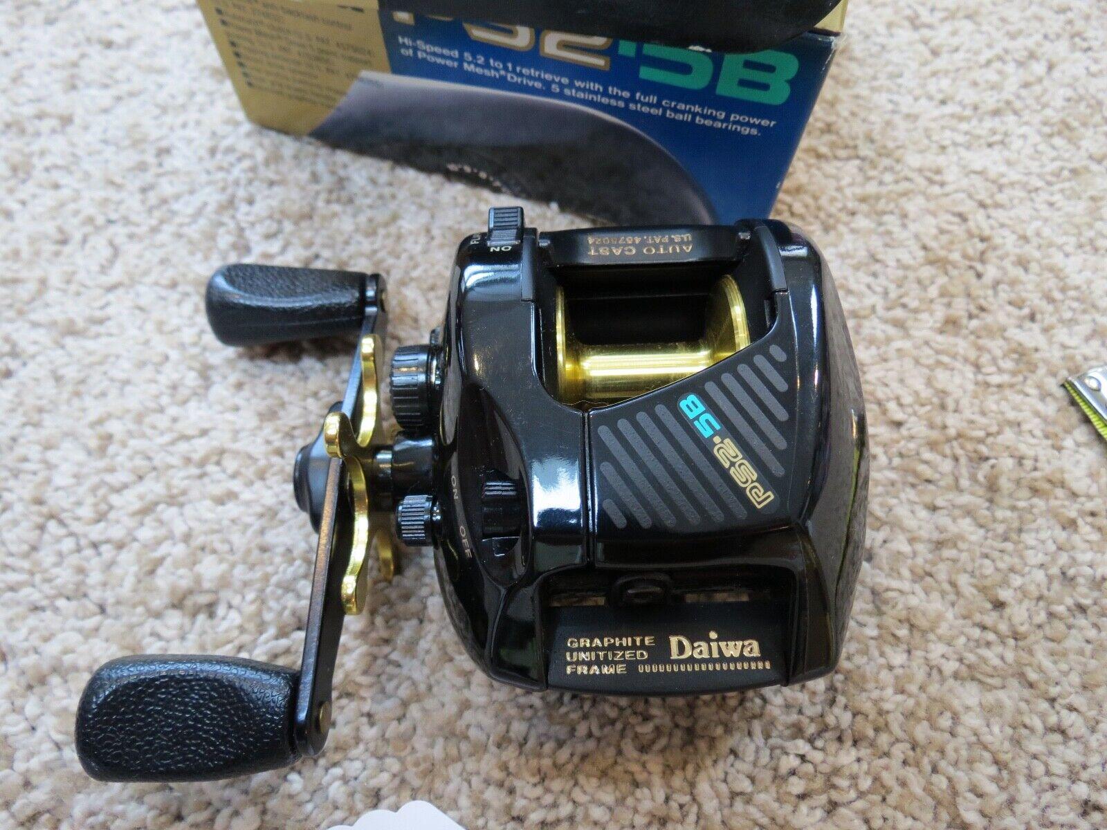 Daiwa PS2 5B fishing reel made in Japan never used lot 13078