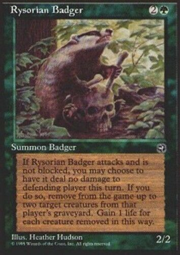1x Rysorian Badger NM-Mint, English Homelands MTG Magic