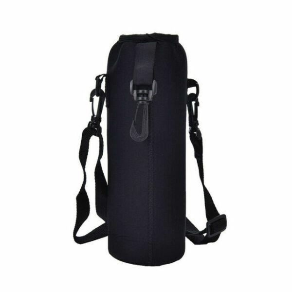 1000ml neoprene water bottle carrier insulated cover bag holder strap R0Y7