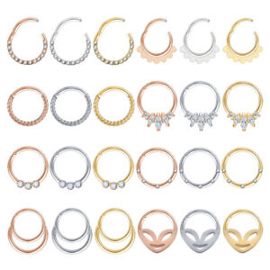 1PC-Stainless-Steel-Nose-Ring-Crystal-Septum-Clicker-Helix-Tragus-Daith-Piercing