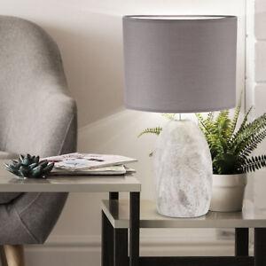 ... Keramik Tisch Lampe Oval Wohn Zimmer Beleuchtung Textil