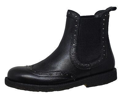 Angulus Chelsea Boots Stiefel 7574 Leder Schuhe Schwarz Gr. 33 40 Neu   eBay